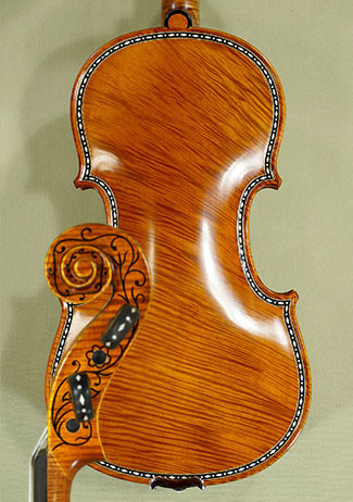 4/4 MAESTRO VASILE GLIGA Rare Inlaid With Bone and Ebony Purfling Inlay Work Copy of 'Greffuhle  on sale