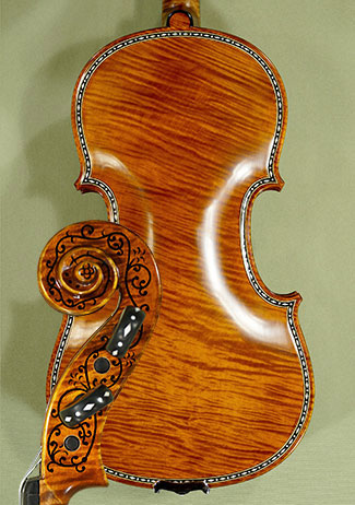 4/4 MAESTRO VASILE GLIGA Rare Inlaid With Bone and Ebony Purfling Inlay Work Copy of \'Hellier 1 on sale