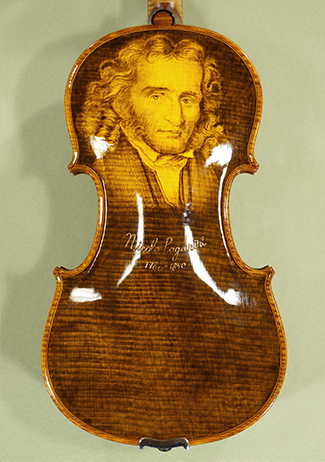 4/4 MAESTRO VASILE GLIGA \'PAGANINI\' Pyrogravure One Piece Back Violin on sale