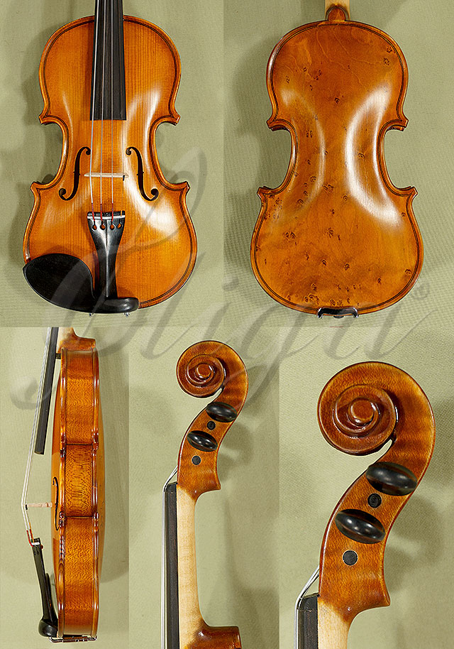 1/10 School 'GENIAL 1-Oil Special' Bird's Eye Maple One Piece Back Violin