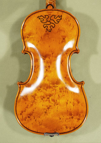 4/4 MAESTRO VASILE GLIGA Special Inlaid Purfling Bird\'s Eye Maple One Piece Back Violin  on sale