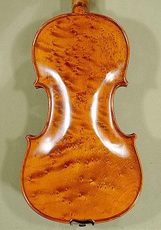 4/4 PROFESSIONAL \'GAMA\' Bird\'s Eye Maple One Piece Back Violin on sale