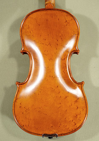 4/4 PROFESSIONAL \'GAMA\' Left Handed Bird\'s Eye Maple One Piece Back Violin on sale