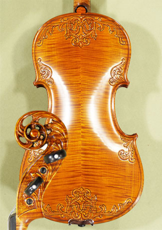 4/4 MAESTRO VASILE GLIGA Sun Flower Scroll with Leaves on Top and Back Scroll Violin on sale