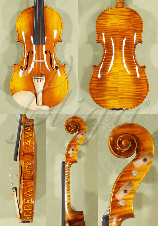 Shiny 4/4 MAESTRO VASILE GLIGA Violin - Copy of 'Amati 1572'