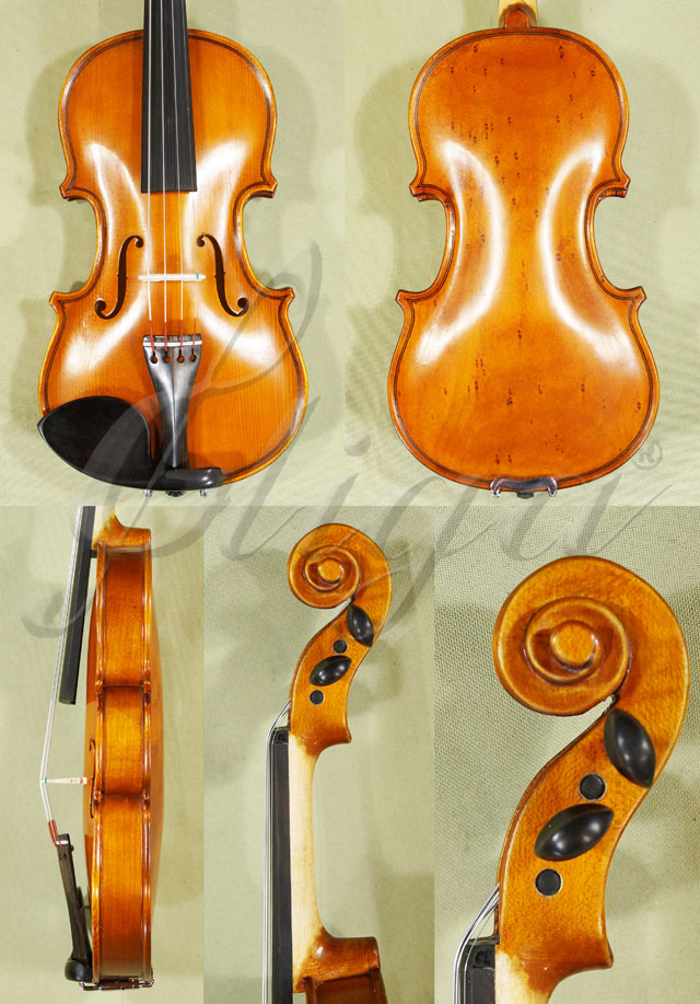 Antiqued 1/10 School 'GENIAL 1-Oil Special' Bird's Eye Maple One Piece Back Violin