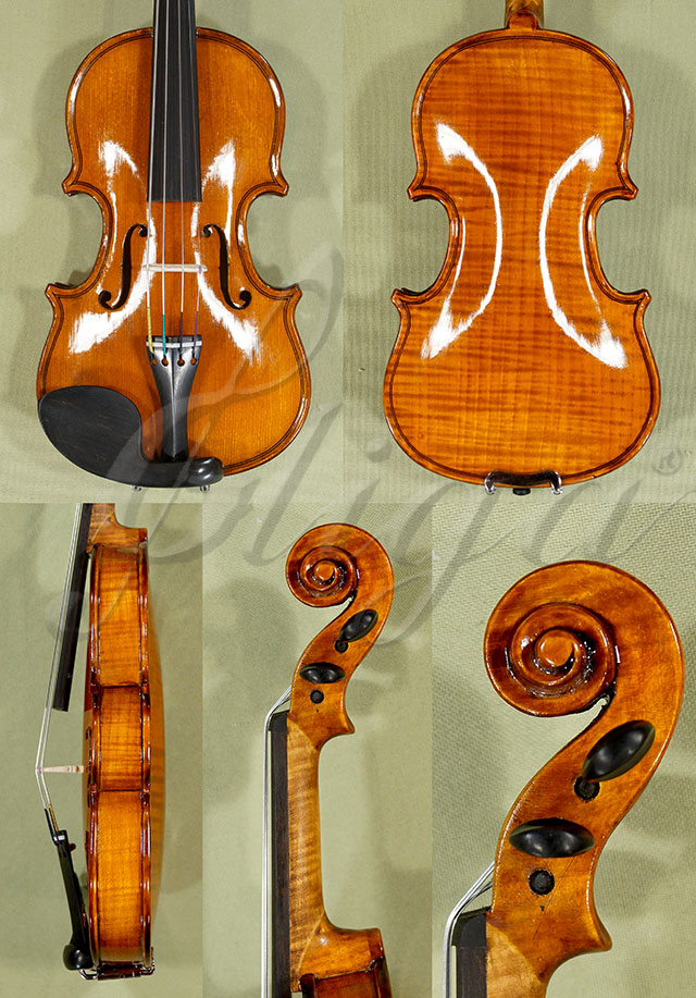 Shiny Antiqued 1/32 WORKSHOP 'GEMS 1' One Piece Back Violin