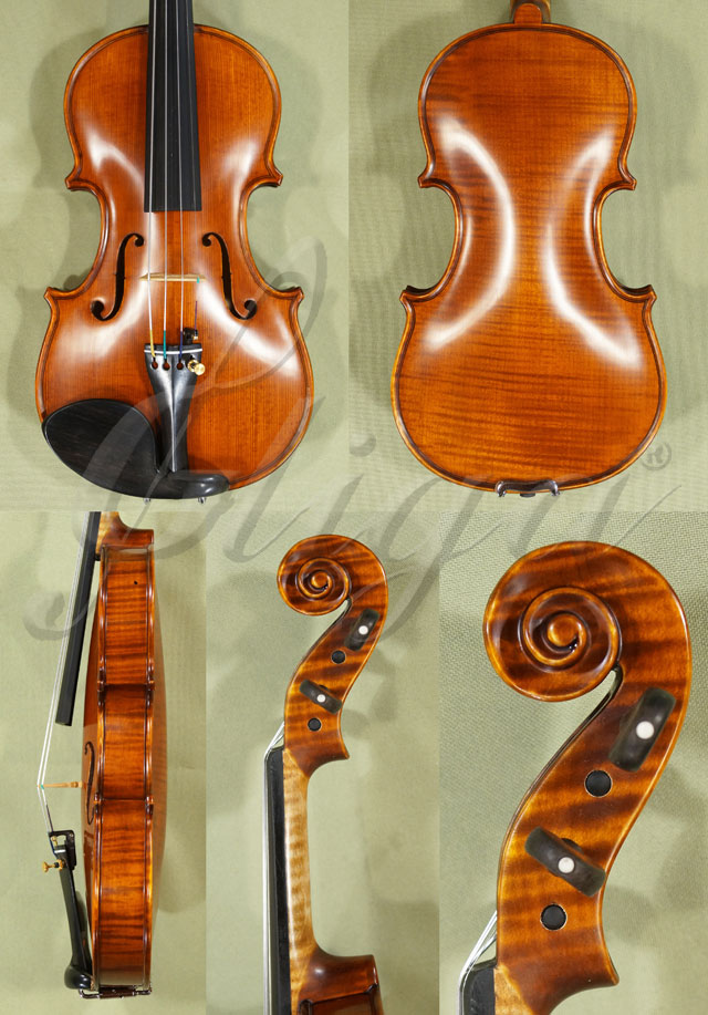 Antiqued 1/8 PROFESSIONAL 'GAMA Super' One Piece Back Violin