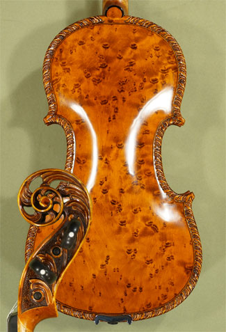 4/4 MAESTRO VASILE GLIGA Scroll Bird\'s Eye Maple One Piece Back Violin  on sale