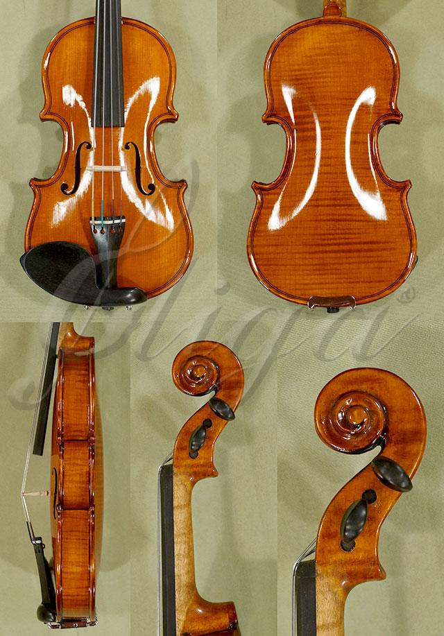 Shiny Antiqued 1/32 WORKSHOP 'GEMS 1' One Piece Back Violin