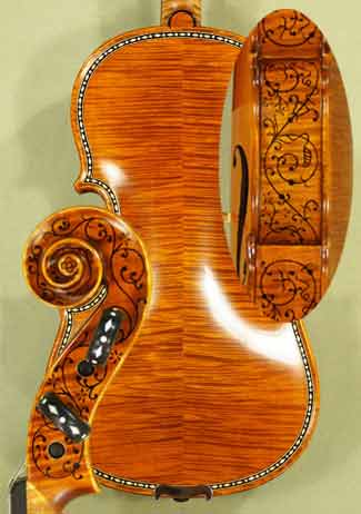 4/4 MAESTRO VASILE GLIGA Rare White Bone and Ebony Inlaid Purfling Violin  on sale