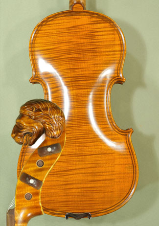 4/4 MAESTRO VASILE GLIGA Inlaid Double Purfling \'Lion\' Scroll One Piece Back Violin  on sale