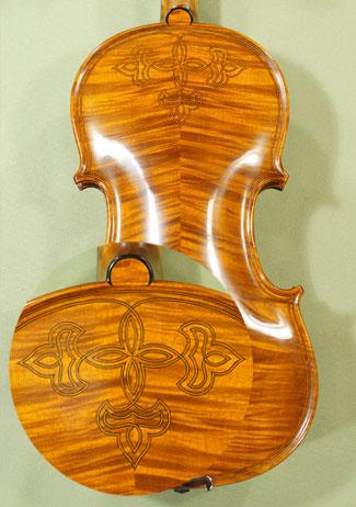4/4 MAESTRO VASILE GLIGA Inlaid Double Purfling with Flower Design Violin on sale