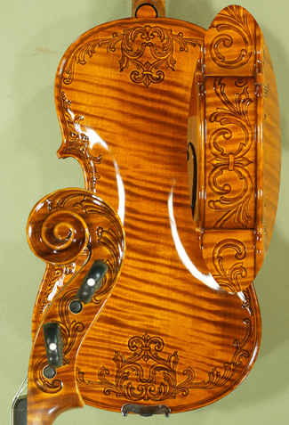 Shiny 4/4 MAESTRO VASILE GLIGA Scroll One Piece Back Violin on sale