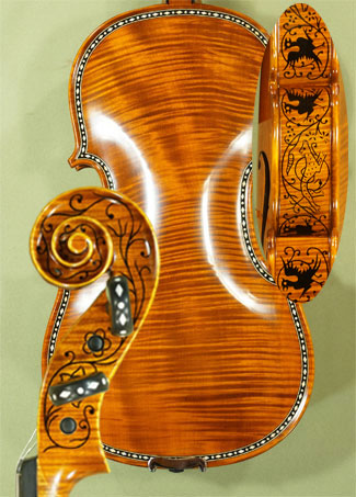 4/4 MAESTRO VASILE GLIGA Rare White Bone and Ebony Inlaid Purfling One Piece Back Violin on sale