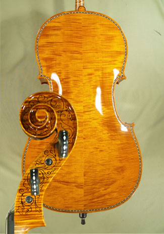 Shiny 4/4 MAESTRO VASILE GLIGA Rare White Bone and Ebony Inlaid Purfling Cello on sale