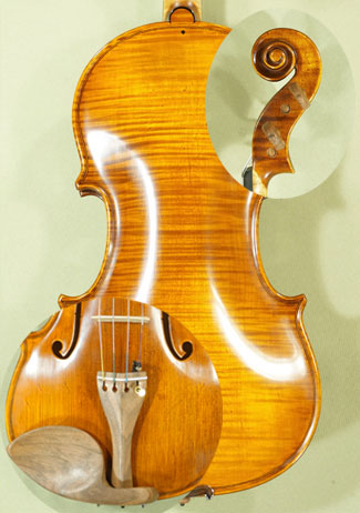 Antique Scratched 4/4 MAESTRO VASILE GLIGA One Piece Back Violin \'Pietro Guarneri of Mantua 170