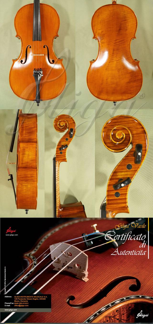 4/4 MAESTRO VASILE GLIGA One Piece Back Cello