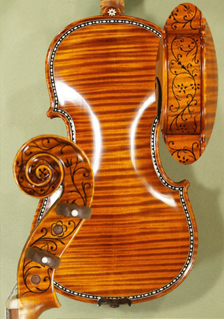 4/4 MAESTRO VASILE GLIGA Rare White Bone and Ebony Inlaid Purfling One Piece Back Violin Cipriani Potter 1683 on sale