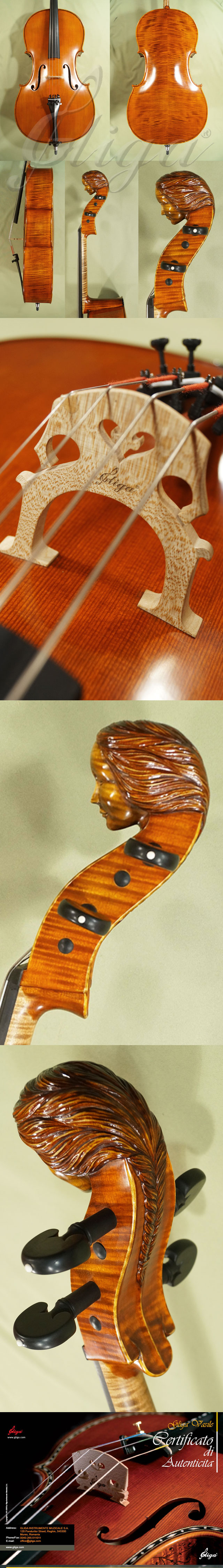 4/4 MAESTRO VASILE GLIGA 'Girl' Scroll Cello