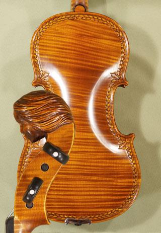 4/4 MAESTRO VASILE GLIGA \'Girl\' Scroll One Piece Back Violin