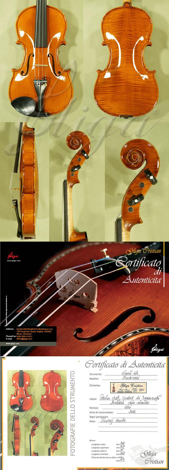 Shiny Antiqued 4/4 MAESTRO GLIGA Violin
