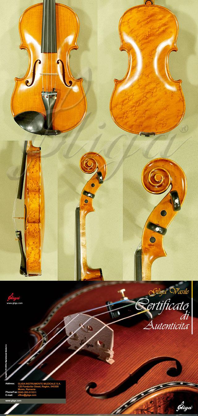 4/4 MAESTRO VASILE GLIGA Bird's Eye Maple One Piece Back Violin