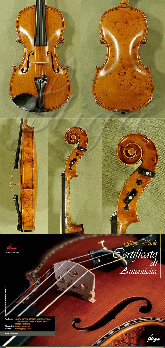 4/4 MAESTRO VASILE GLIGA Inlaid Double Purfling Bird's Eye Maple One Piece Back Violin
