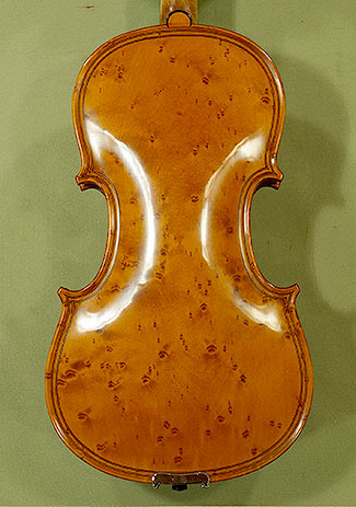 4/4 MAESTRO VASILE GLIGA Inlaid Double Purfling Bird\'s Eye Maple One Piece Back Violin on sale