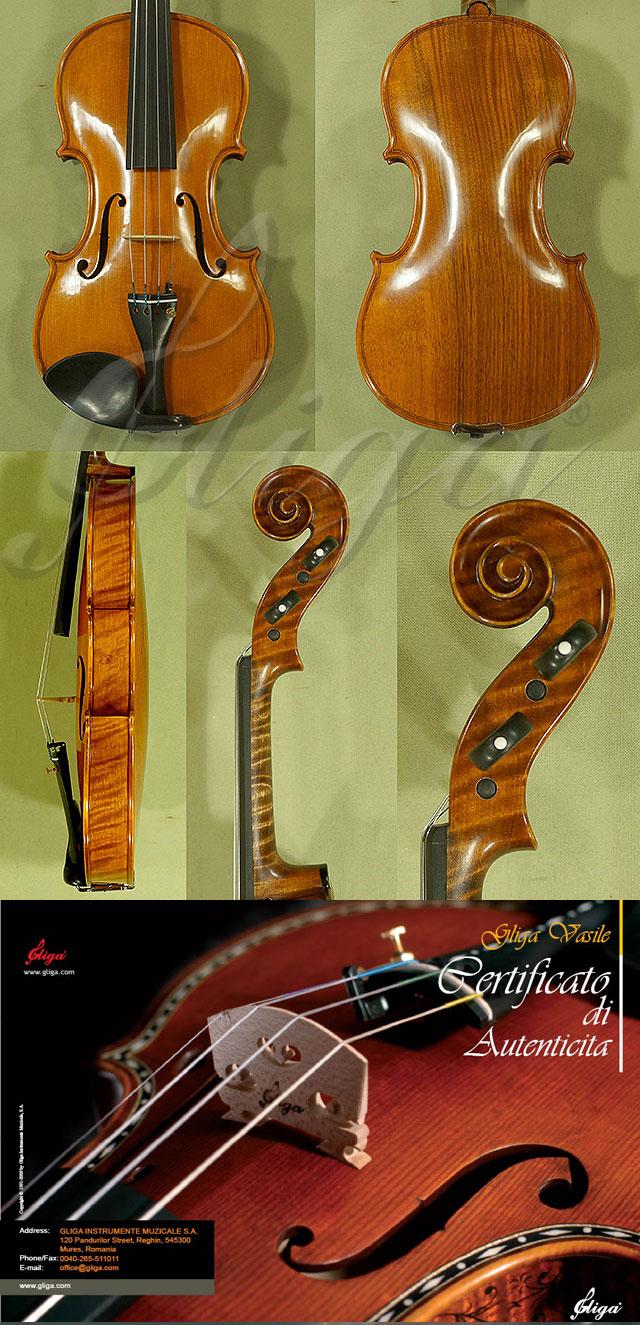 4/4 MAESTRO VASILE GLIGA Walnut One Piece Back Violin