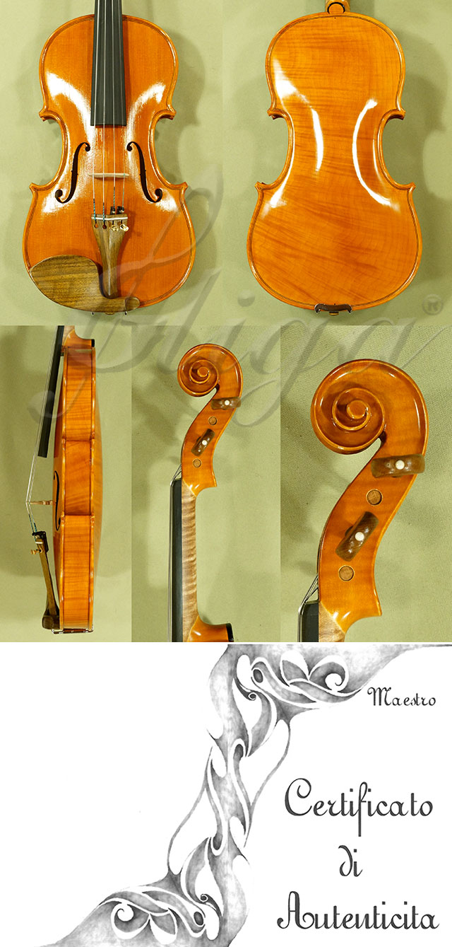 Feel-The-Grain Spirit Varnish 4/4 CERUTI MAESTRO One Piece Back Violin 'Antonio Ceruti'
