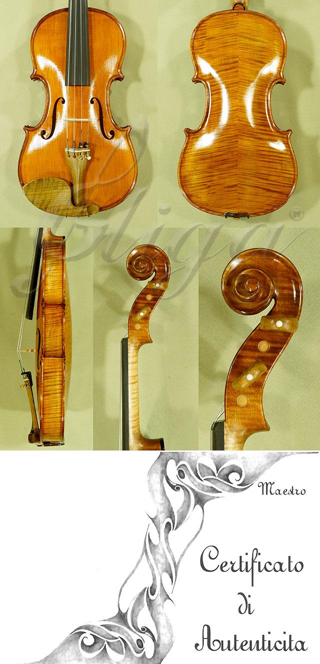 Feel-The-Grain Spirit Varnish Antiqued 4/4 CERUTI MAESTRO Violin 'Antonio Ceruti'