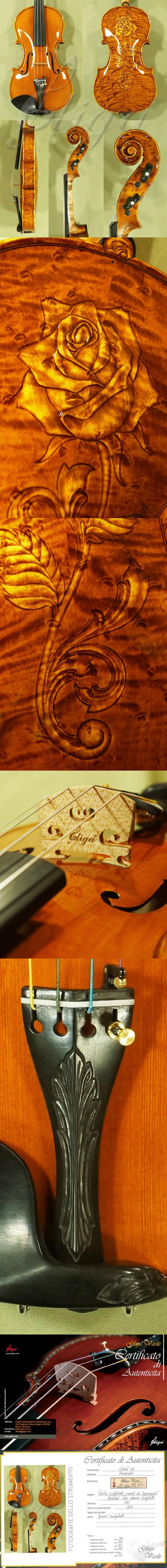 Shiny 4/4 MAESTRO VASILE GLIGA Bird's Eye Maple Violin