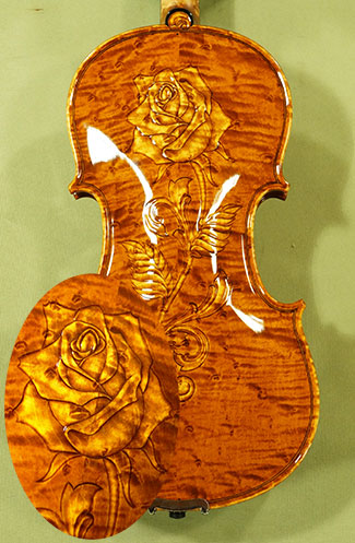 Shiny 4/4 MAESTRO VASILE GLIGA Bird\'s Eye Maple Violin on sale