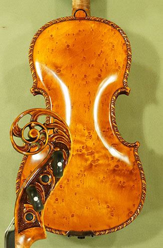 Antiqued 4/4 MAESTRO GLIGA Scroll Bird\'s Eye Maple One Piece Back Violin on sale