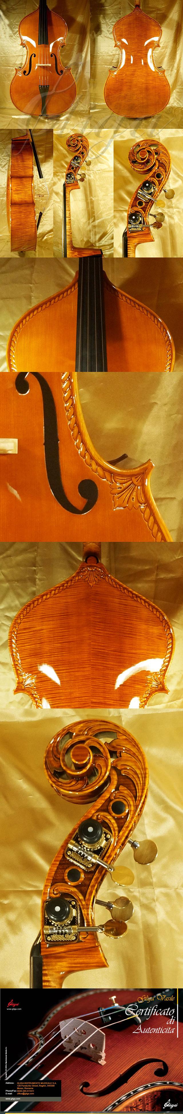 Shiny 3/4 MAESTRO VASILE GLIGA Scroll Double-Bass