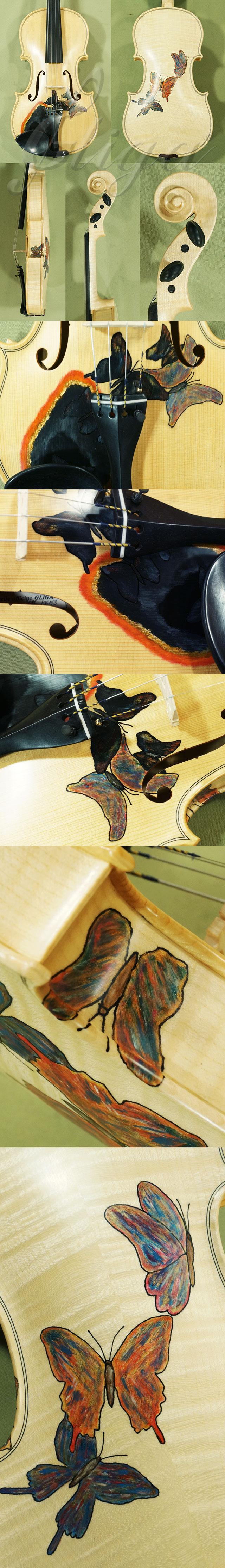 Wood Color 4/4 WORKSHOP 'GEMS 1' Butterflies Violin