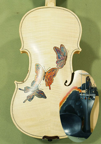 Wood Color 4/4 WORKSHOP \'GEMS 1\' Butterflies Violin on sale