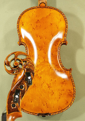 4/4 MAESTRO VASILE GLIGA Scroll Densely Bird\'s Eye Maple One Piece Back Violin on sale