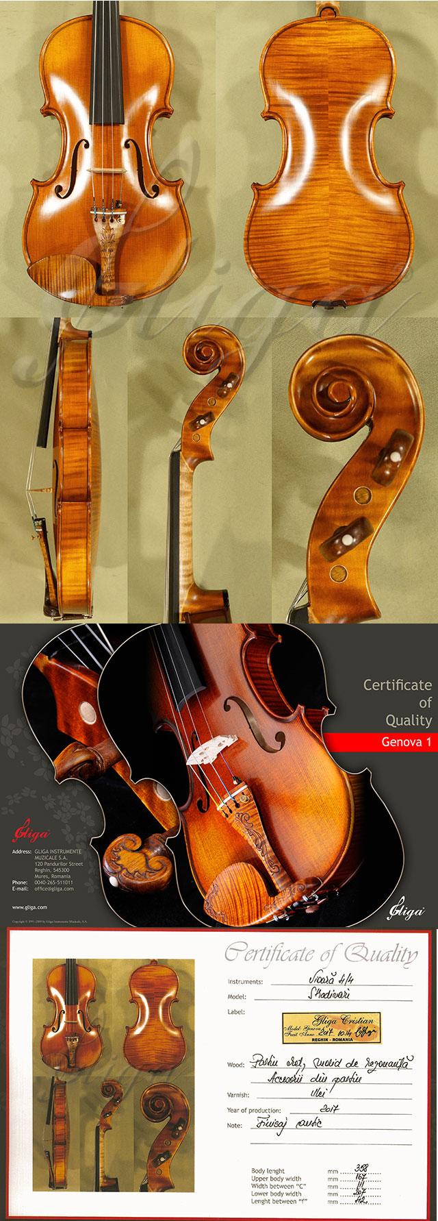 Antiqued 4/4 MASTER 'GENOVA 1' Violin