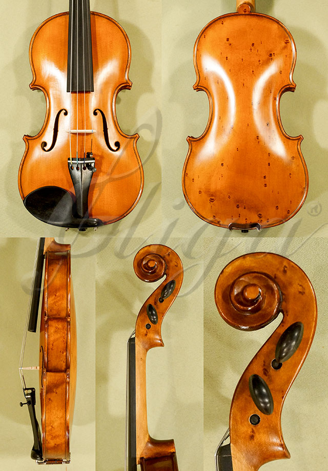 Antiqued 1/4 WORKSHOP 'GEMS 1' Bird's Eye Maple One Piece Back Violin