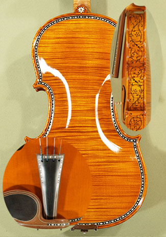 Shiny 4/4 MAESTRO VASILE GLIGA Rare White Bone and Ebony Inlaid Purfling One Piece Back Violin C on sale