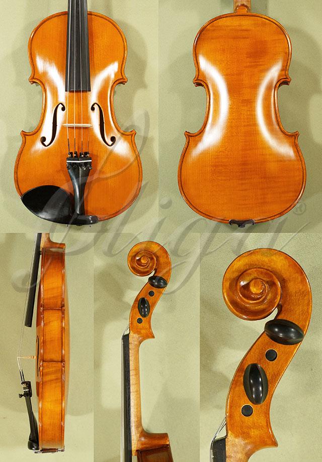 Antiqued 4/4 School 'GENIAL 1-Oil' One Piece Back Violin 'Guarneri'