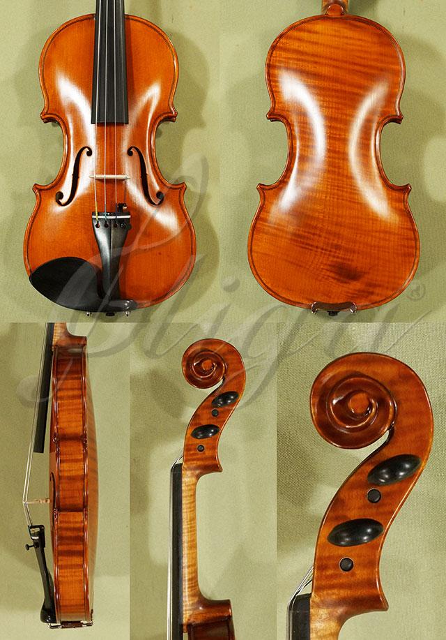 Antiqued 1/4 WORKSHOP 'GEMS 1' One Piece Back Violin