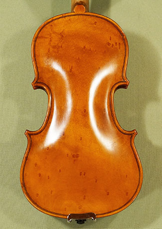 Antiqued 1/10 WORKSHOP \'GEMS 1\' Bird\'s Eye Maple One Piece Back Violin on sale