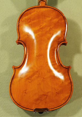 Antiqued 1/10 WORKSHOP 'GEMS 1' Bird's Eye Maple One Piece Back Violin on sale