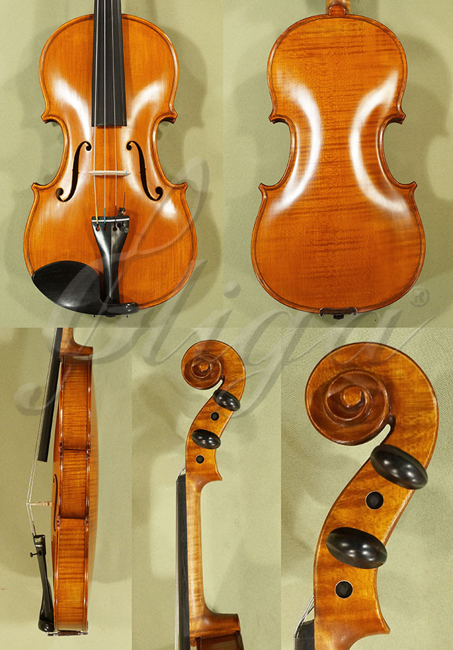 Antiqued 7/8 WORKSHOP 'GEMS 1' One Piece Back Violin