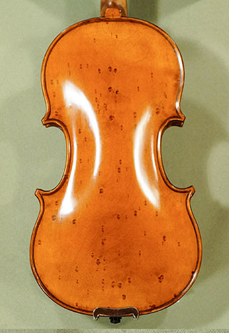 Antiqued 1/4 WORKSHOP \'GEMS 1\' Bird\'s Eye Maple One Piece Back Violin  on sale