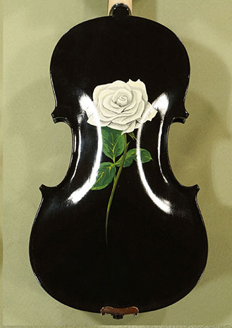 4/4 Student \'GEMS 2\' Black White Rose Violin  on sale
