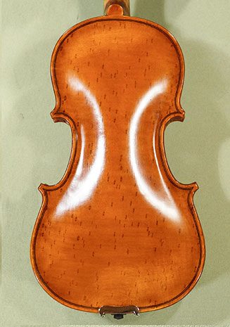 Antiqued 1/8 WORKSHOP \'GEMS 1\' Bird\'s Eye Maple One Piece Back Violin  on sale